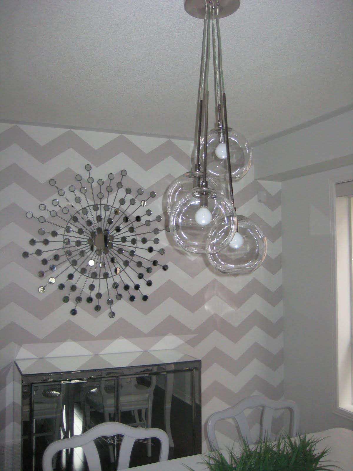 Mummy Maggie Chronicles: New Light Fixture & Sunburst Mirror {Dr with regard to West Elm Glass Pendants (Image 12 of 15)