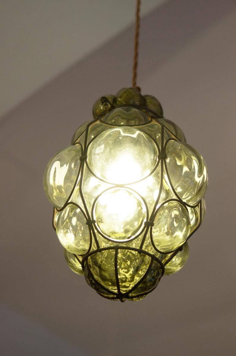 Murano Caged Glass Pendant Light From Seguso For Sale At Pamono intended for Murano Glass Pendant Lighting (Image 6 of 15)