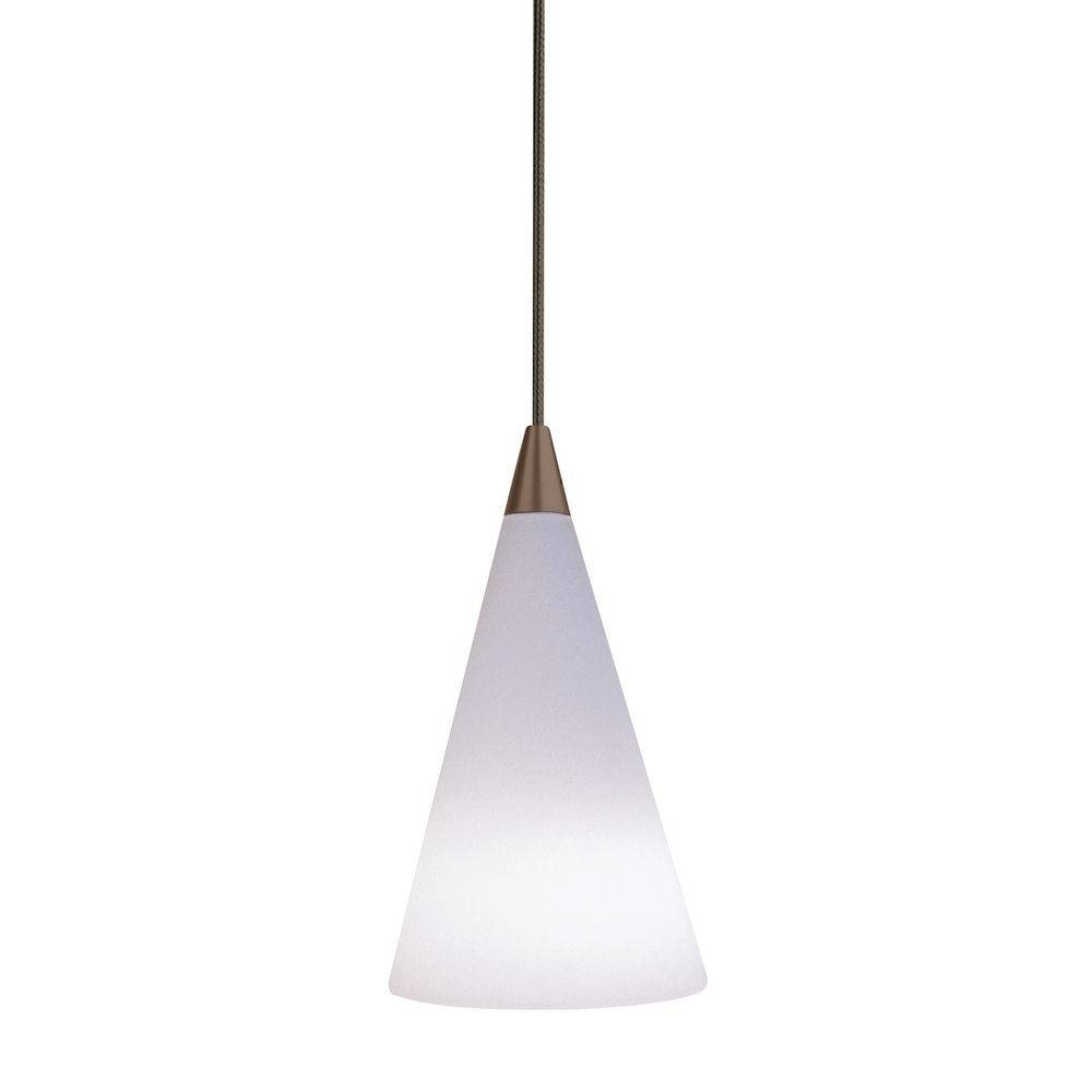 Murano Cone Glass Mini-Pendant Light In Antique Bronze | 700 regarding Murano Glass Mini Pendant Lights (Image 10 of 15)