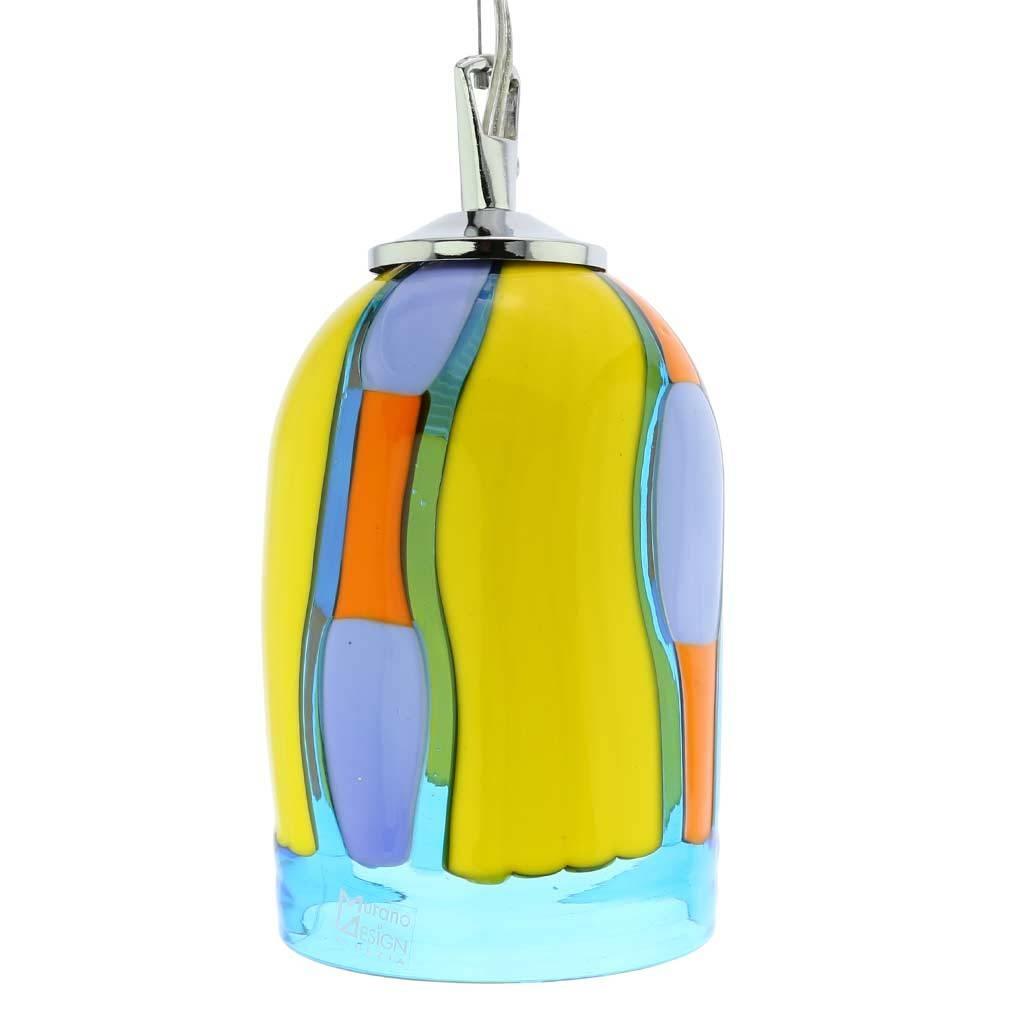Murano Glass Lighting | Murano Glass Pendant Light - Blue Lagoon intended for Murano Glass Ceiling Lights (Image 6 of 15)