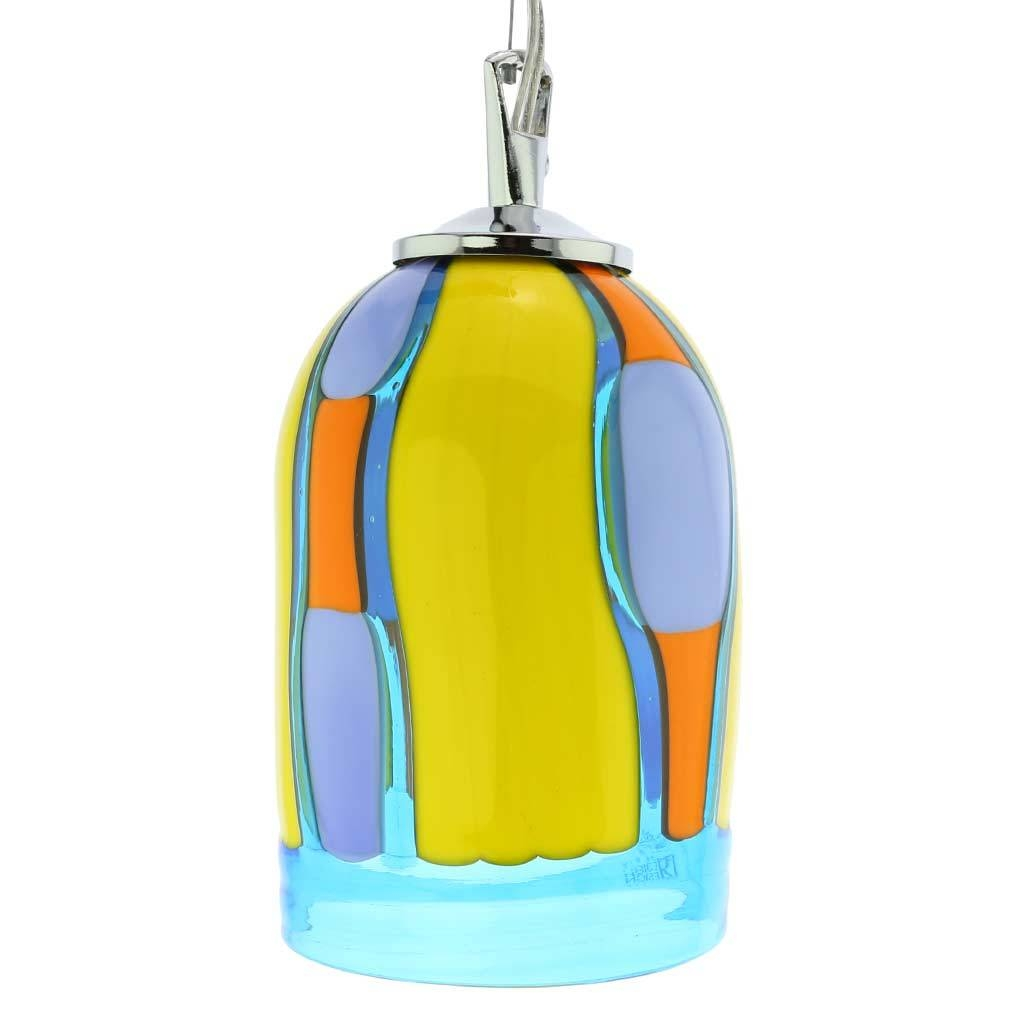 Murano Glass Lighting | Murano Glass Pendant Light - Blue Lagoon regarding Murano Glass Pendant Lighting (Image 8 of 15)