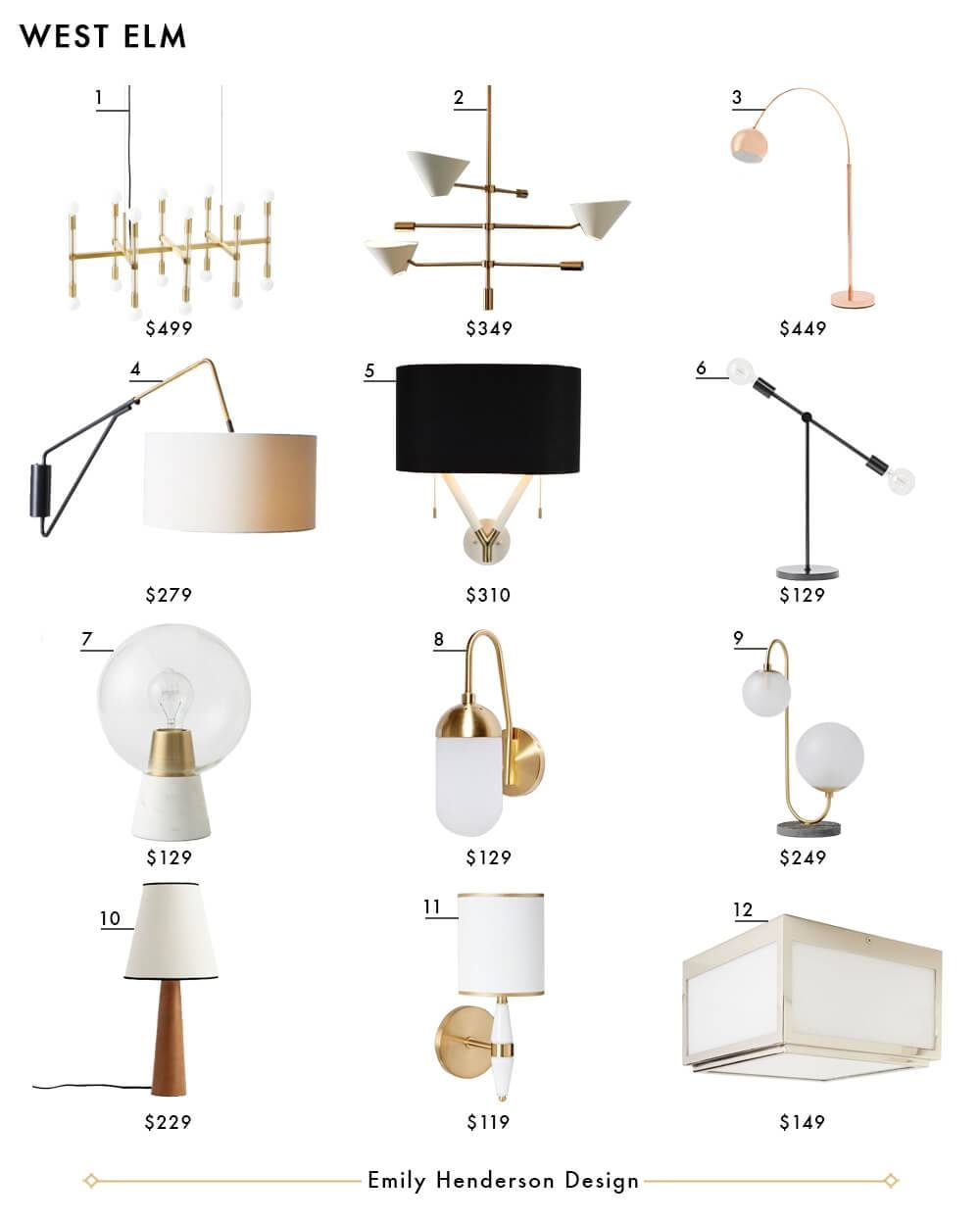 My Favorite 37 Online Lighting Resources - Emily Henderson inside West Elm Bathroom Pendant Lights (Image 14 of 15)