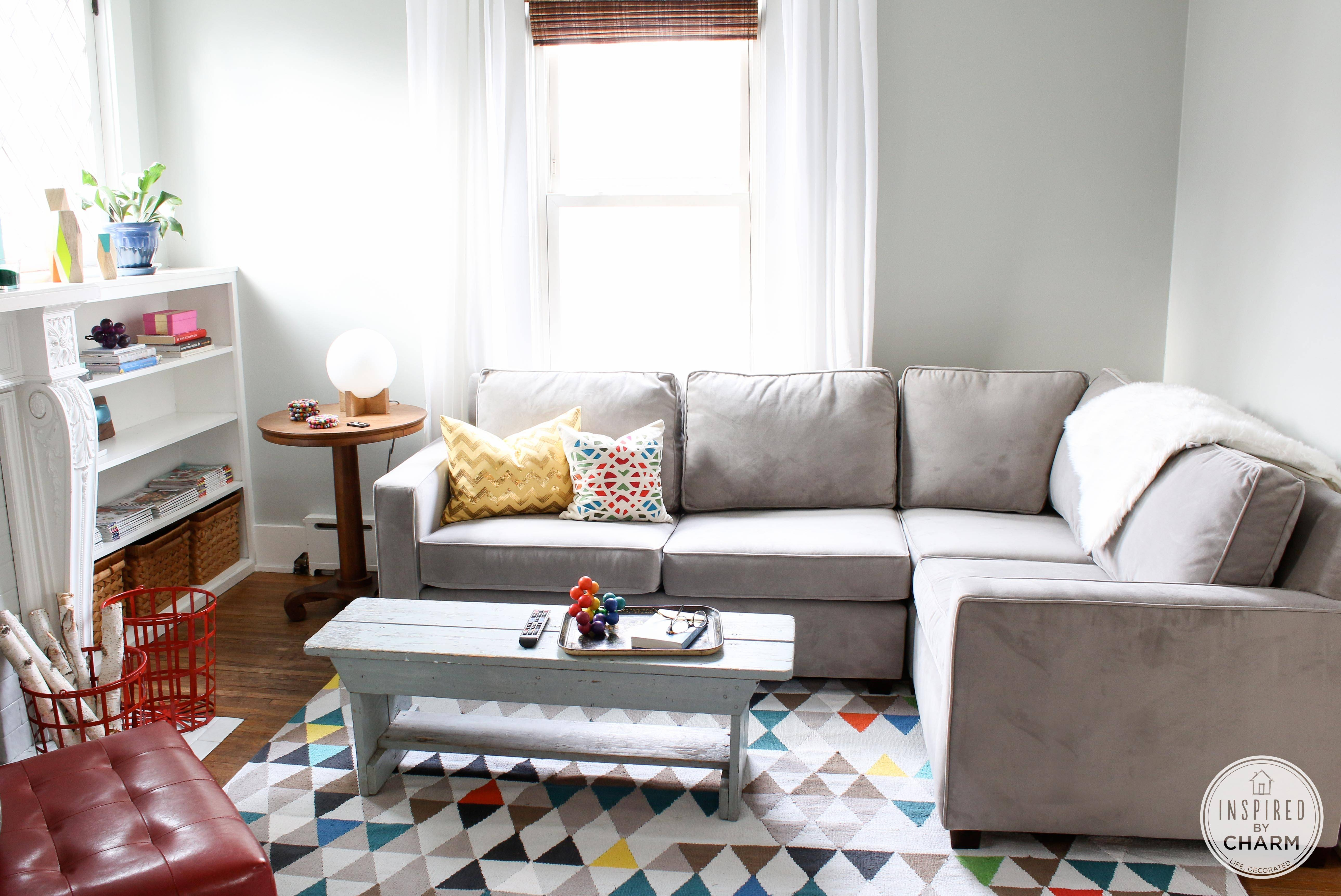 My New Couch Is Here! - Inspiredcharm regarding West Elm Henry Sofas (Image 8 of 15)