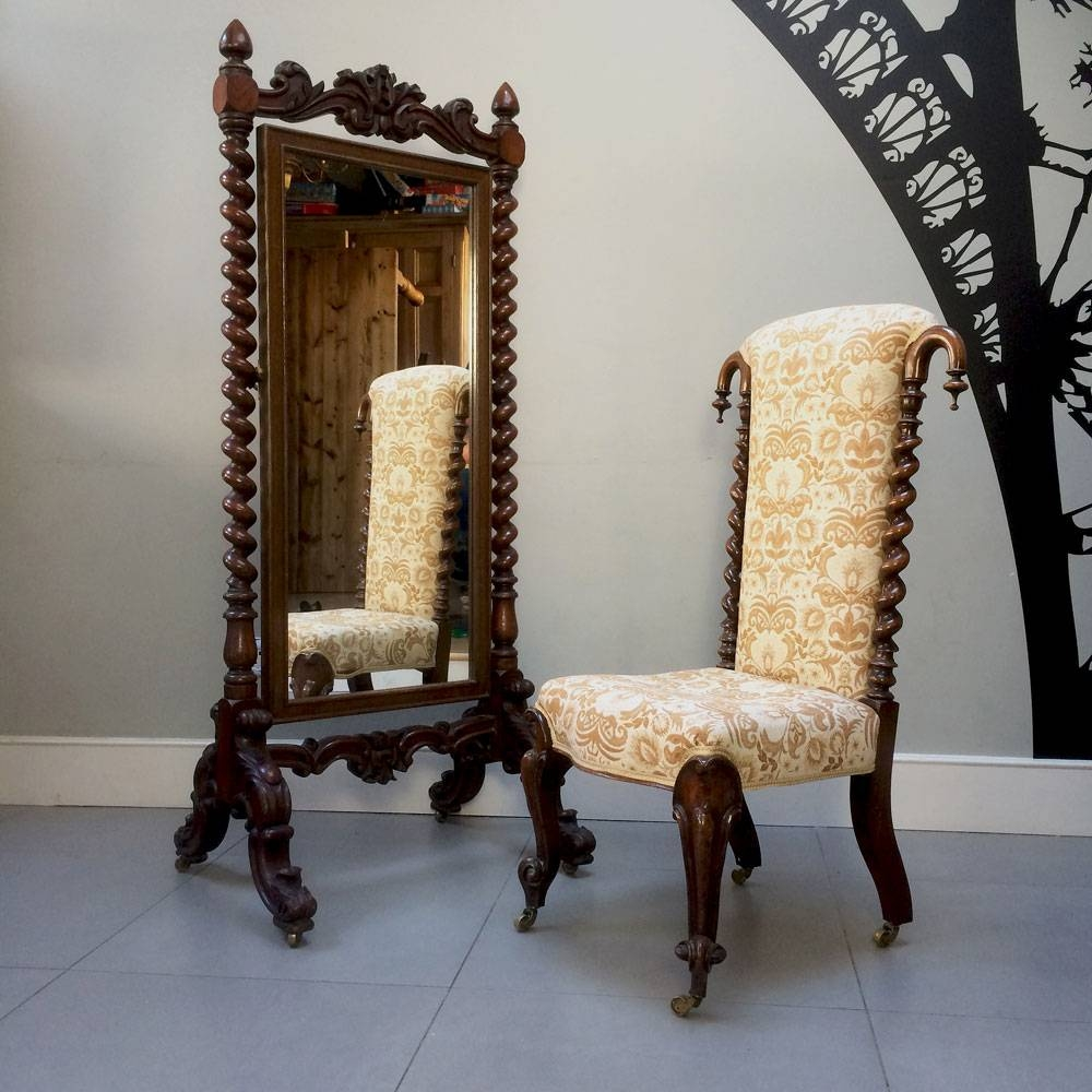 Napoleonrockefeller | Collectables, Vintage And Painted Furniture intended for Victorian Floor Mirrors (Image 13 of 15)