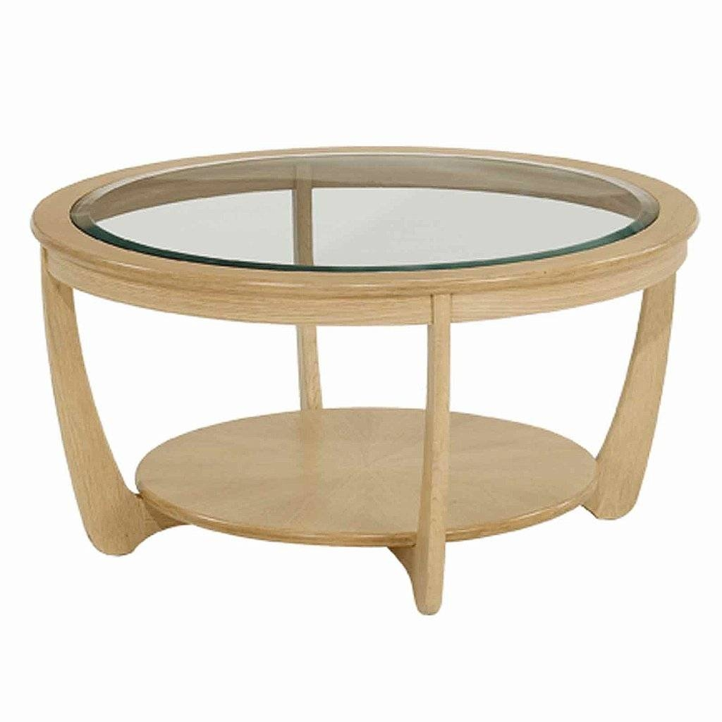 Nathan Shades In Oak Glass Top Round Coffee Table pertaining to Glass Oak Coffee Tables (Image 12 of 15)