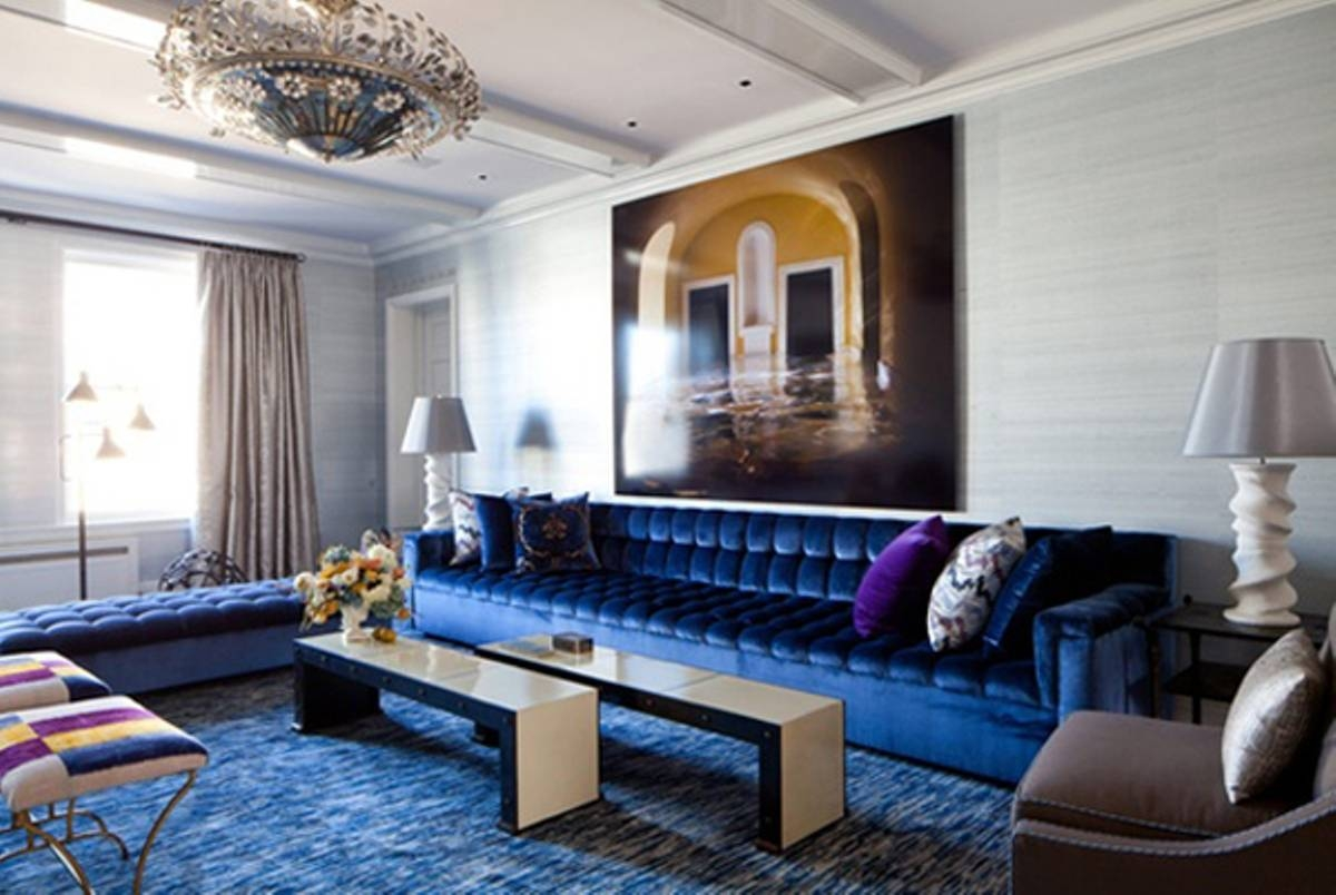 Navy Blue Sofa Living Room Ideas | Tehranmix Decoration With Midnight Blue  Sofas (Image 10 Part 55