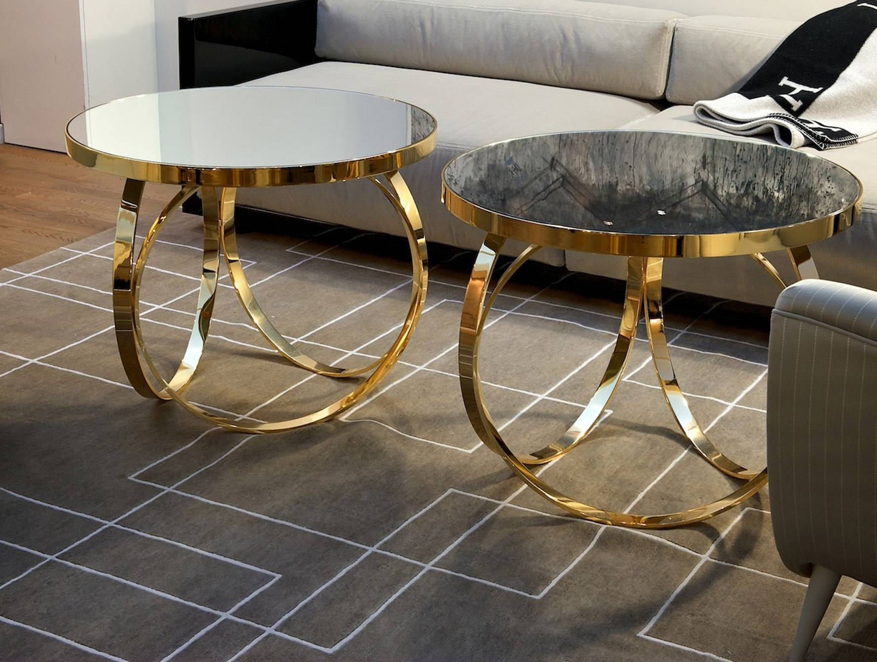 Nella Vetrina Ottoline Contemporary Italian Gold Metal Coffee Table for Italian Coffee Tables (Image 13 of 15)