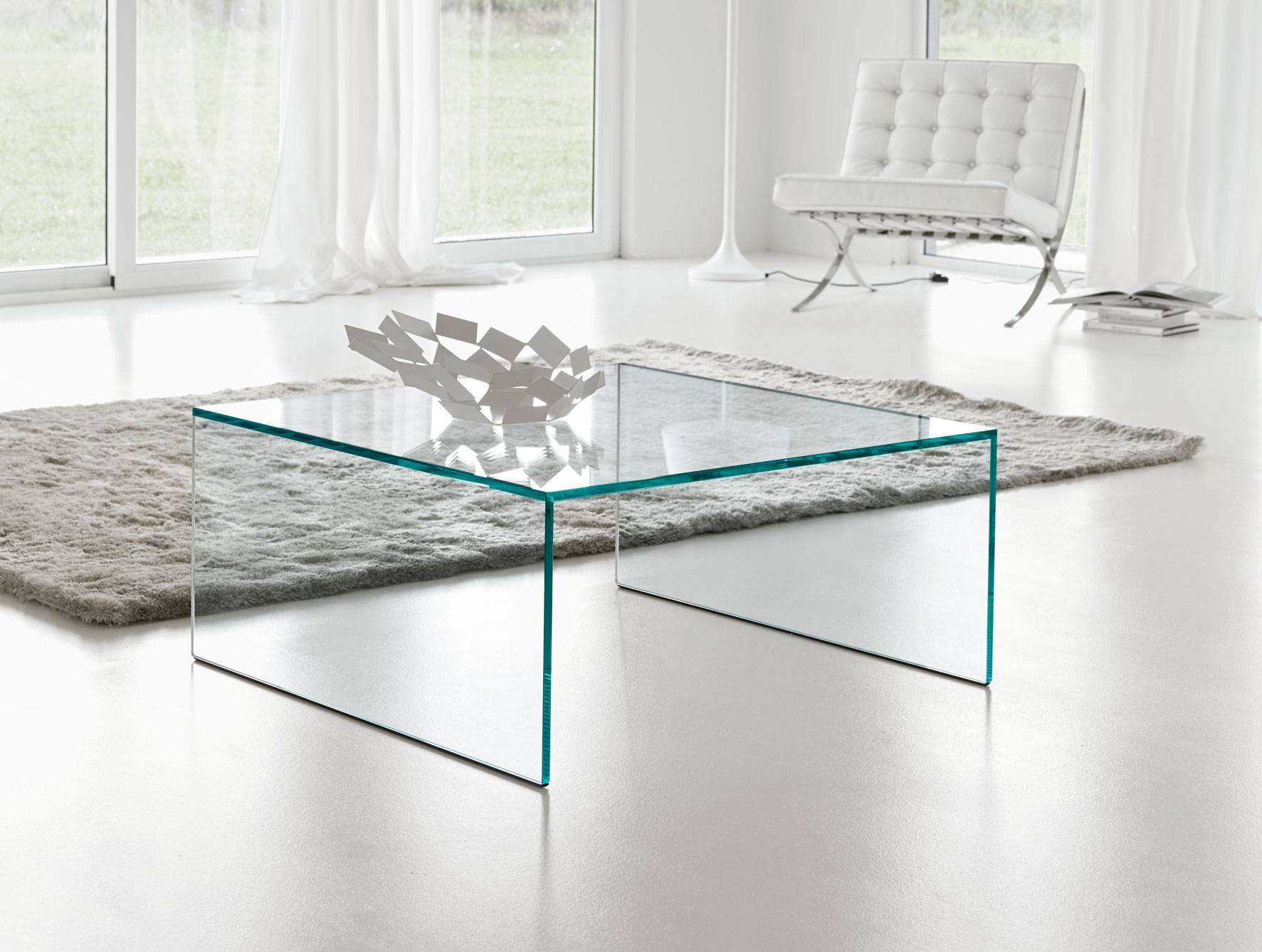 Nella Vetrina Tonelli Eden Modern Italian Square Coffee Table inside Square Glass Coffee Table (Image 10 of 15)