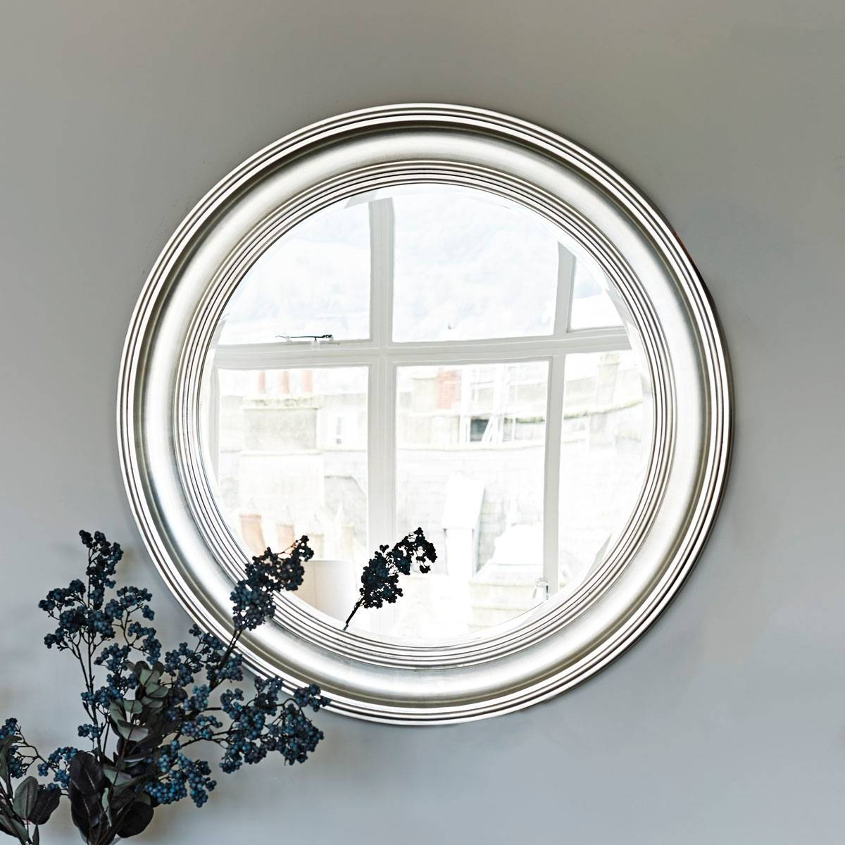 New England Mirror - Sliver Large | Brissi within Large Round Silver Mirrors (Image 12 of 15)