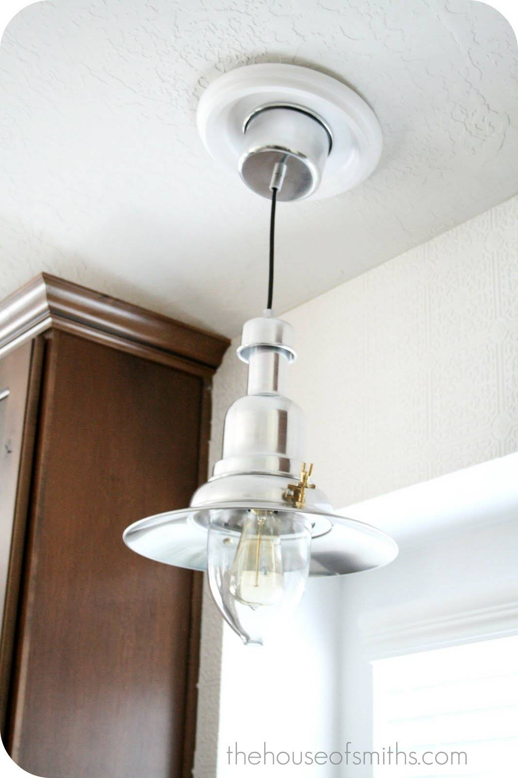 New Kitchen Lighting – Converting A Can Light With A Recessed Throughout Ikea Lighting Pendants (View 8 of 15)