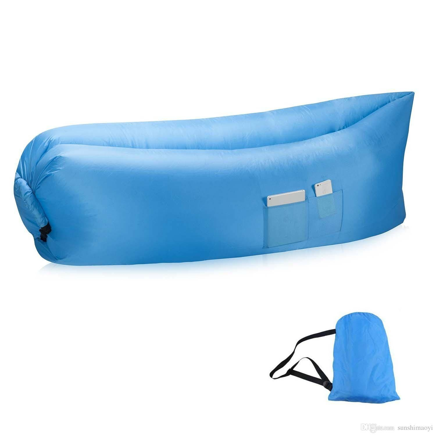 New Most Popular Lay Bag Air Bed Sofa Inflatable Air Bags Sleeping With Regard To Sleeping Bag Sofas (View 4 of 15)