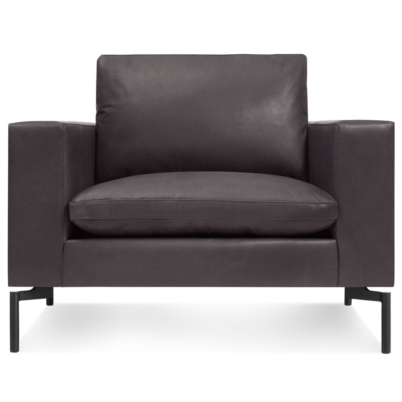 New Standard Modern Leather Lounge Chair | Blu Dot inside Lounge Sofas and Chairs (Image 9 of 12)