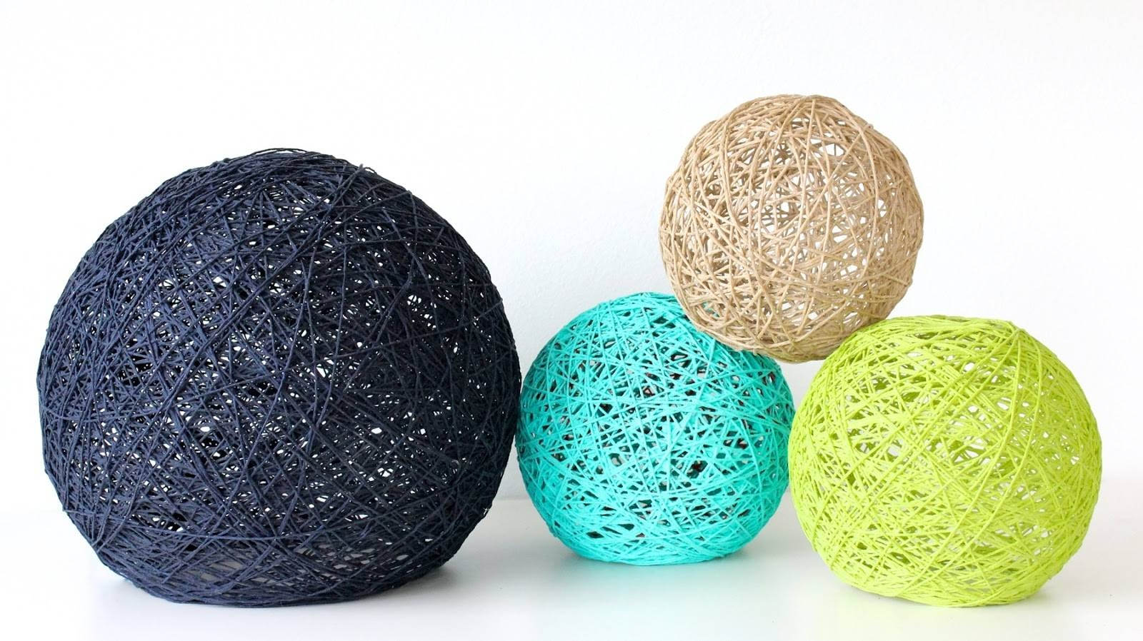 New Video! How To Make Giant Yarn Lampshades, Lanterns, And Globes inside Diy Yarn Lights (Image 11 of 15)