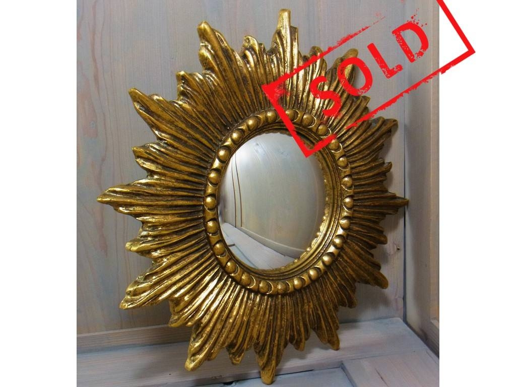 Nice Starburst Sunburst Resin Wall Convex Mirror Mid Century Regarding Starburst Convex Mirrors (View 12 of 15)