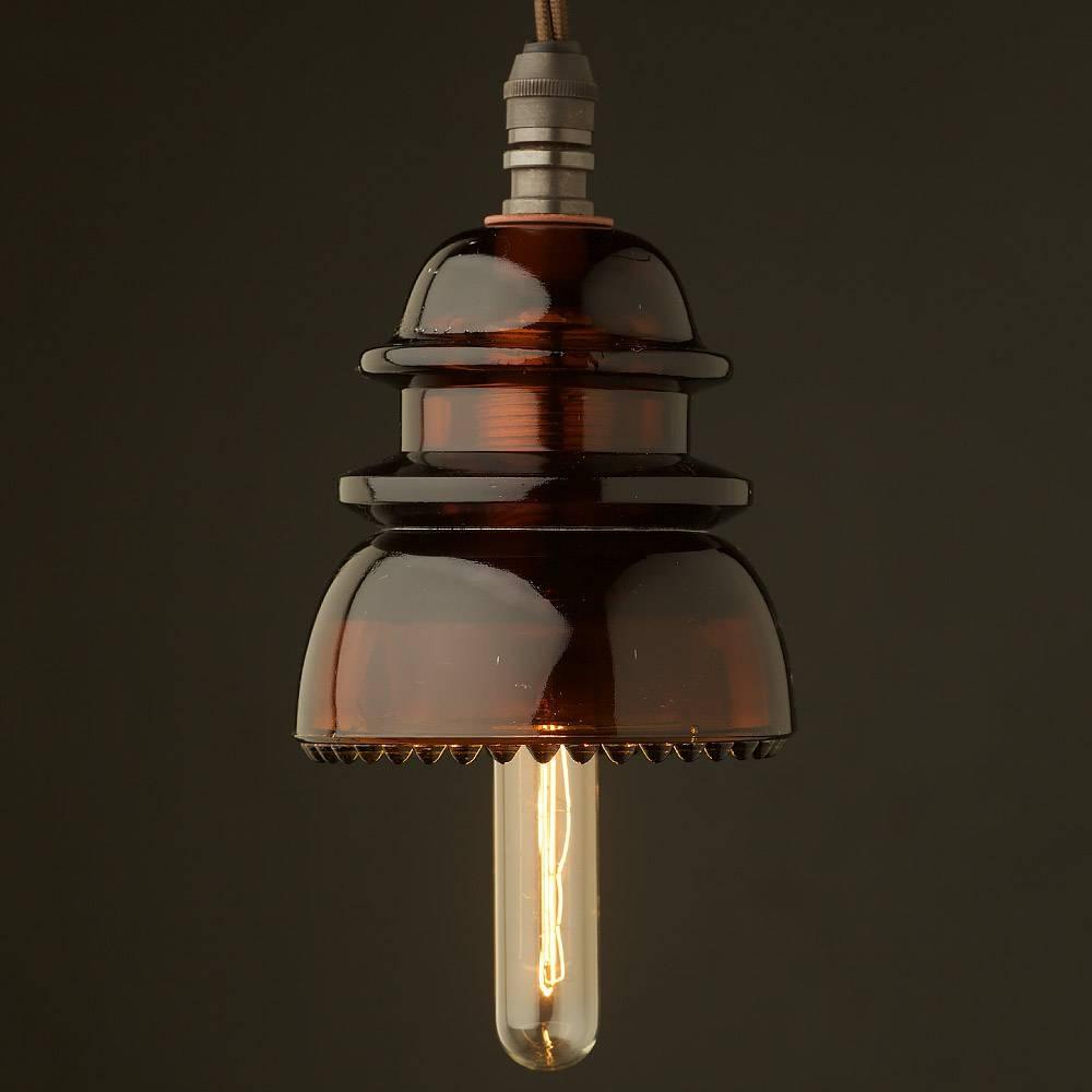 No42 Amber Ses Pendant Light throughout Antique Insulator Pendant Lights (Image 11 of 15)