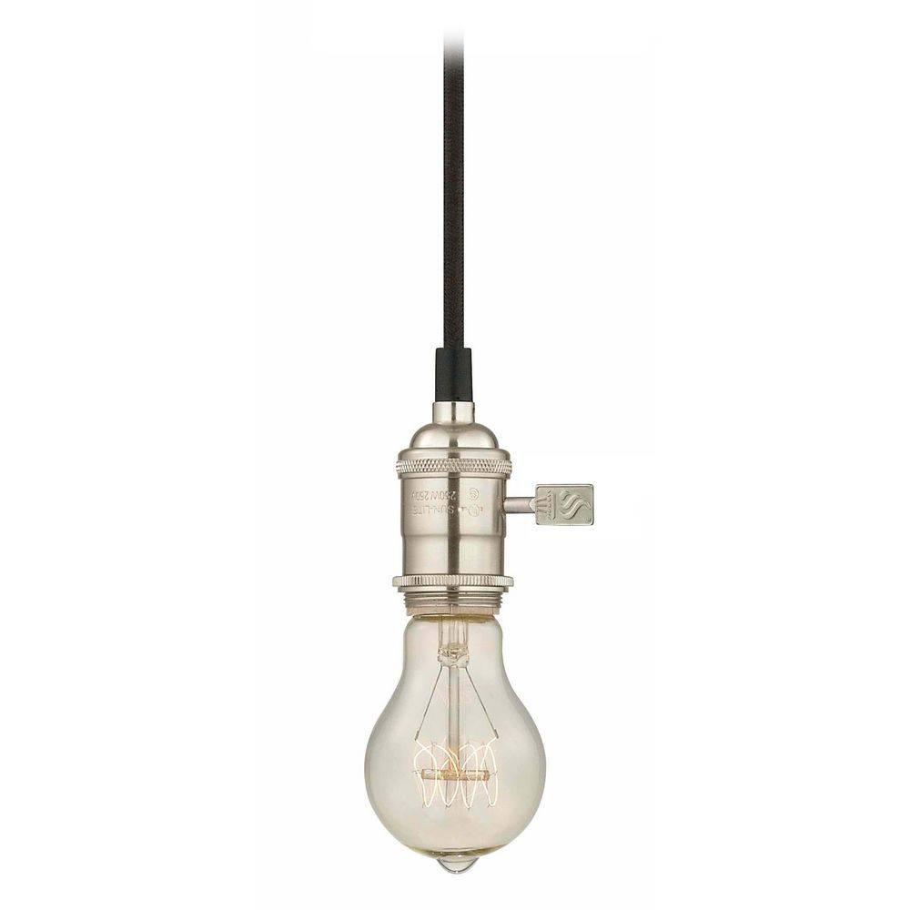 Nostalgic Bare Bulb Socket Mini-Pendant Light With 25-Watt Edison intended for Bare Bulb Pendant Lighting (Image 11 of 15)