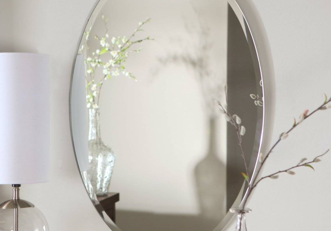 Noteworthy Tags : Mirror Bevelled Edge Full Length Frameless intended for Vintage Frameless Mirrors (Image 10 of 15)