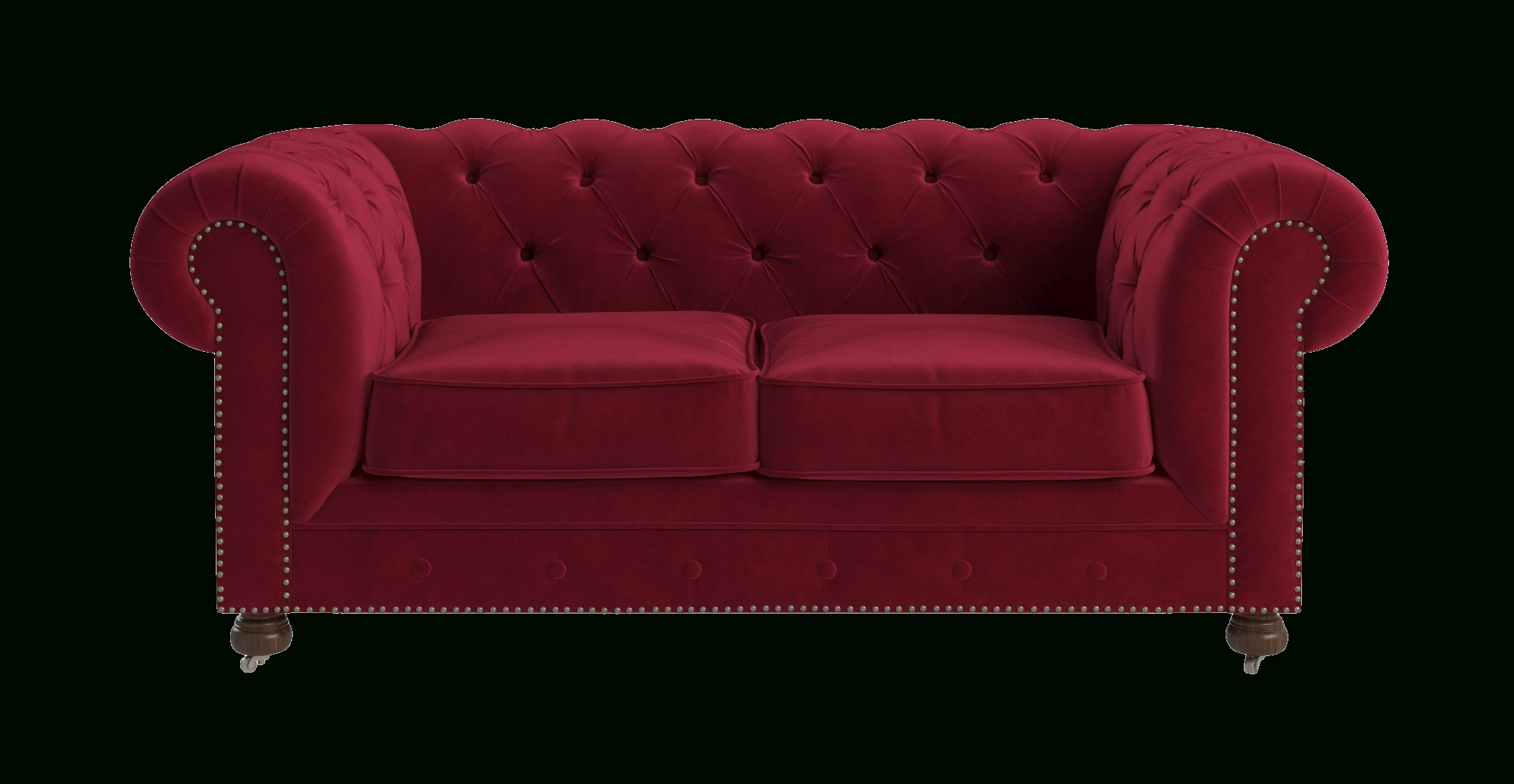 Notting Hill Velvet Chesterfield 3 Seater Sofa in Red Chesterfield Sofas (Image 9 of 15)