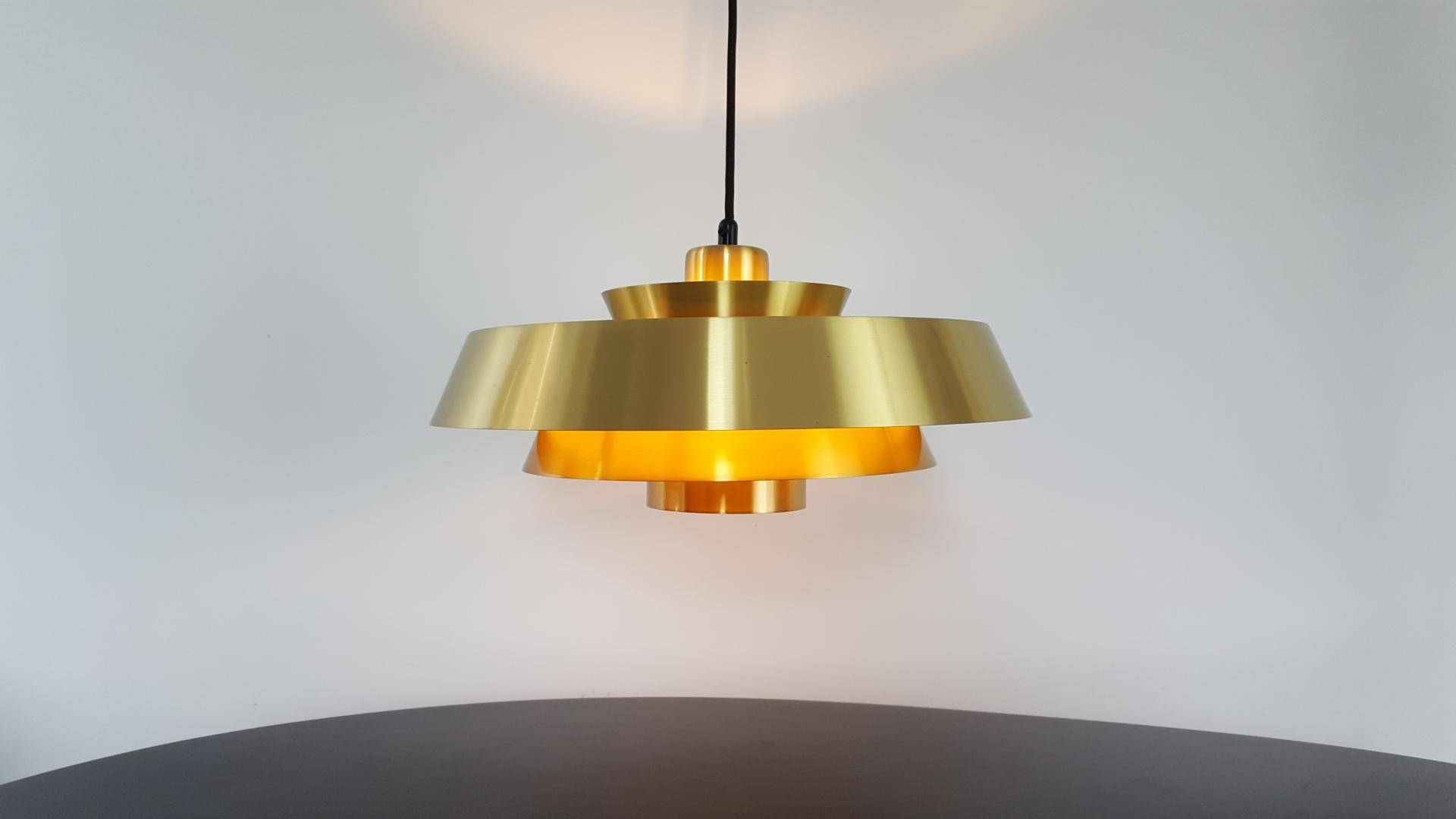 Nova Brass Pendant Lightjo Hammerborg For Fog & Mørup Denmark inside 1960S Pendant Lighting (Image 7 of 15)