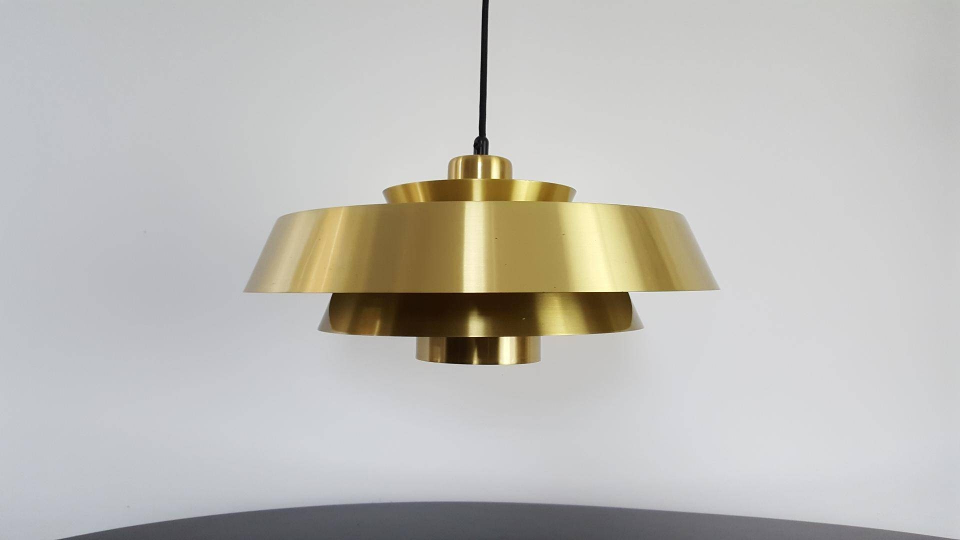 Nova Brass Pendant Lightjo Hammerborg For Fog & Mørup Denmark intended for 1960S Pendant Lighting (Image 8 of 15)