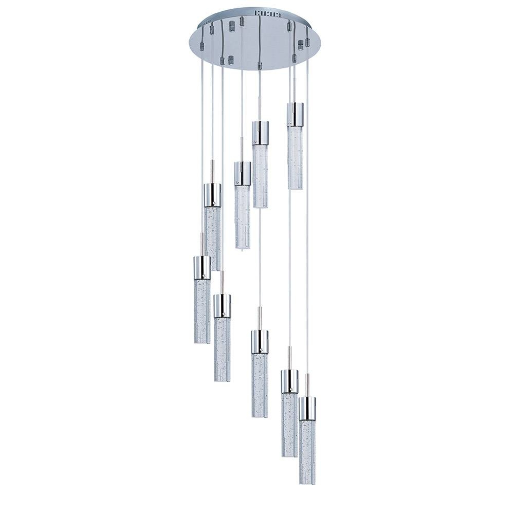 Nowlighting Offers: Et2 Lighting Et-133080 Lighting Polished within Bubble Glass Pendant Lights (Image 14 of 15)