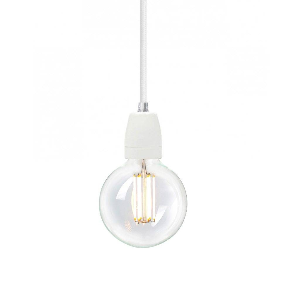 Nud Classic White Pendant With Wimbledon White Cord For Nud Classic Pendant Lights (View 9 of 15)