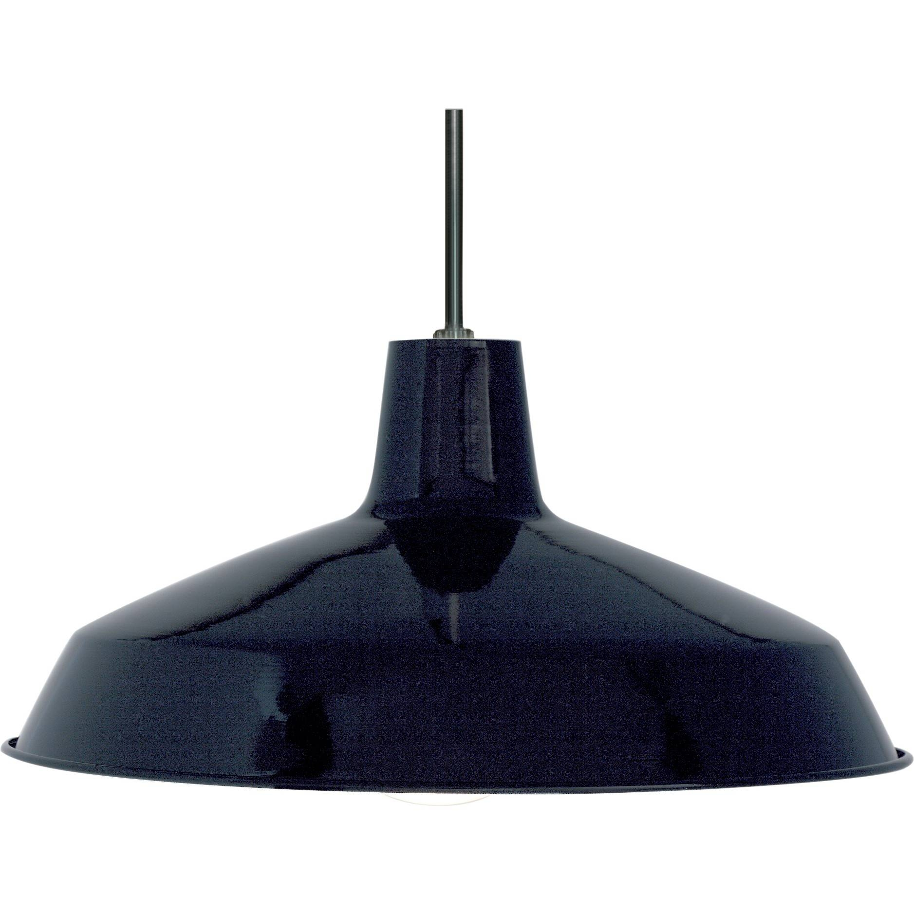 "Nuvo 76-284 | 1-Light 16"" Black Pendant Light Fixture With inside Warehouse Pendant Light Fixtures (Image 6 of 15)"