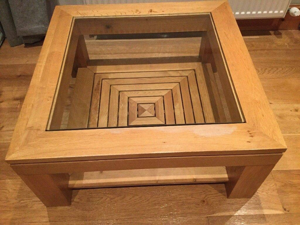 Oak And Glass M&s Coffee Table | In Kearsley, Manchester | Gumtree in Mands Coffee Tables (Image 12 of 15)