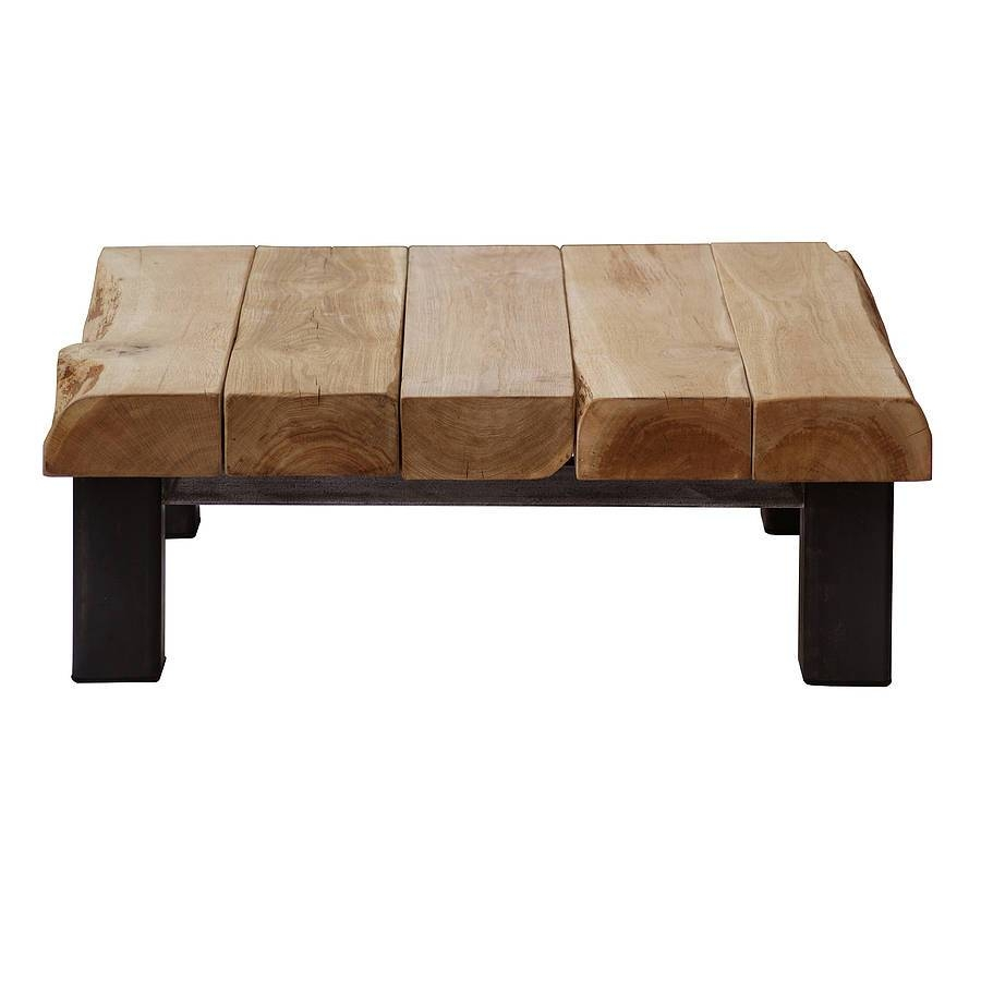 Oak And Iron Large Square Coffee Tableoak & Iron Furniture in Large Oak Coffee Tables (Image 9 of 15)