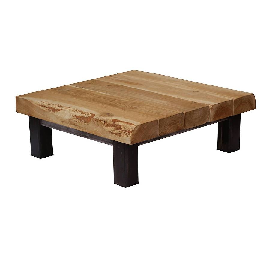 Oak And Iron Large Square Coffee Tableoak & Iron Furniture Pertaining To Large Square Oak Coffee Tables (View 5 of 15)
