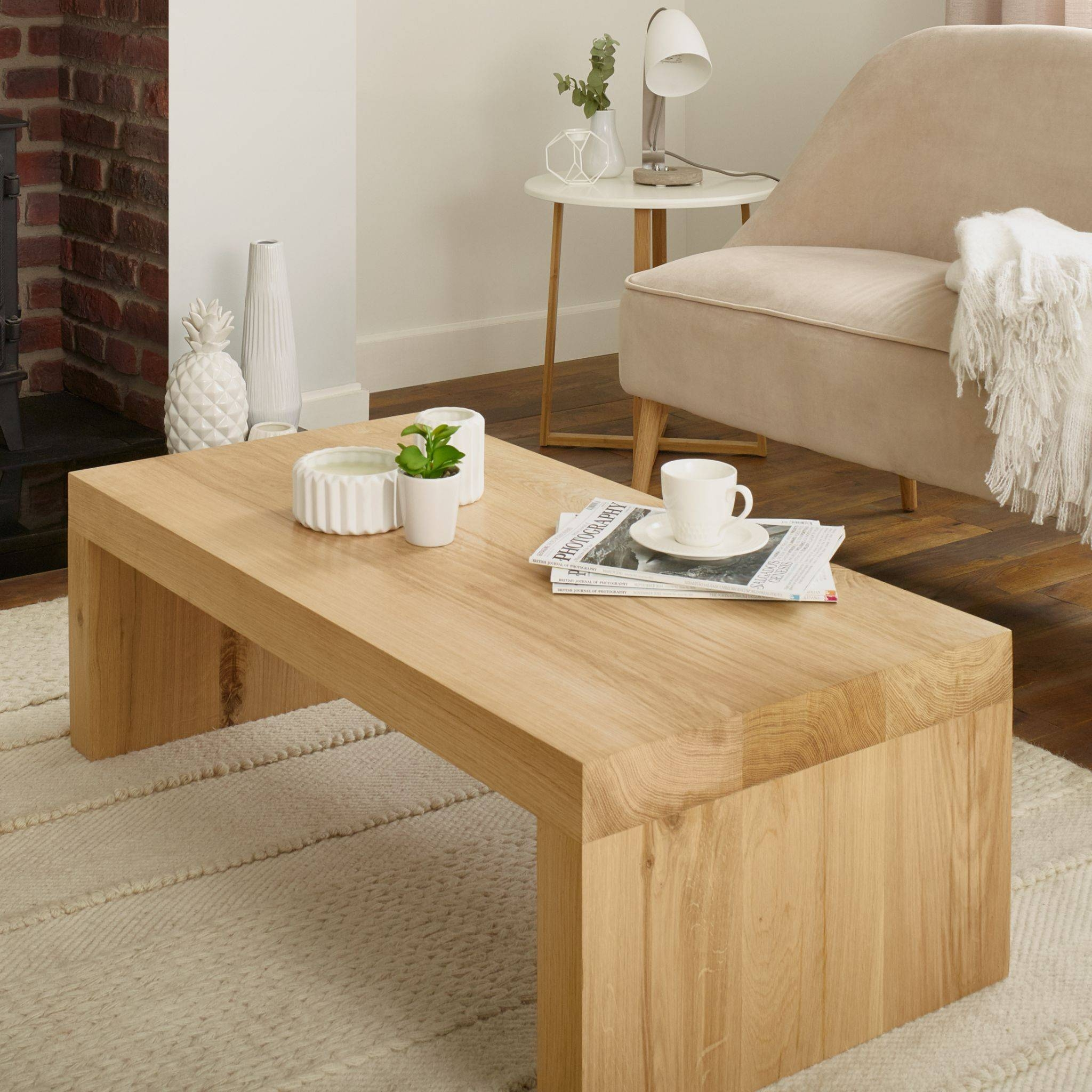 Oak Coffee Table Canterbury Solid French Rustic Beam With Solid Oak Beam Coffee Table (View 11 of 15)