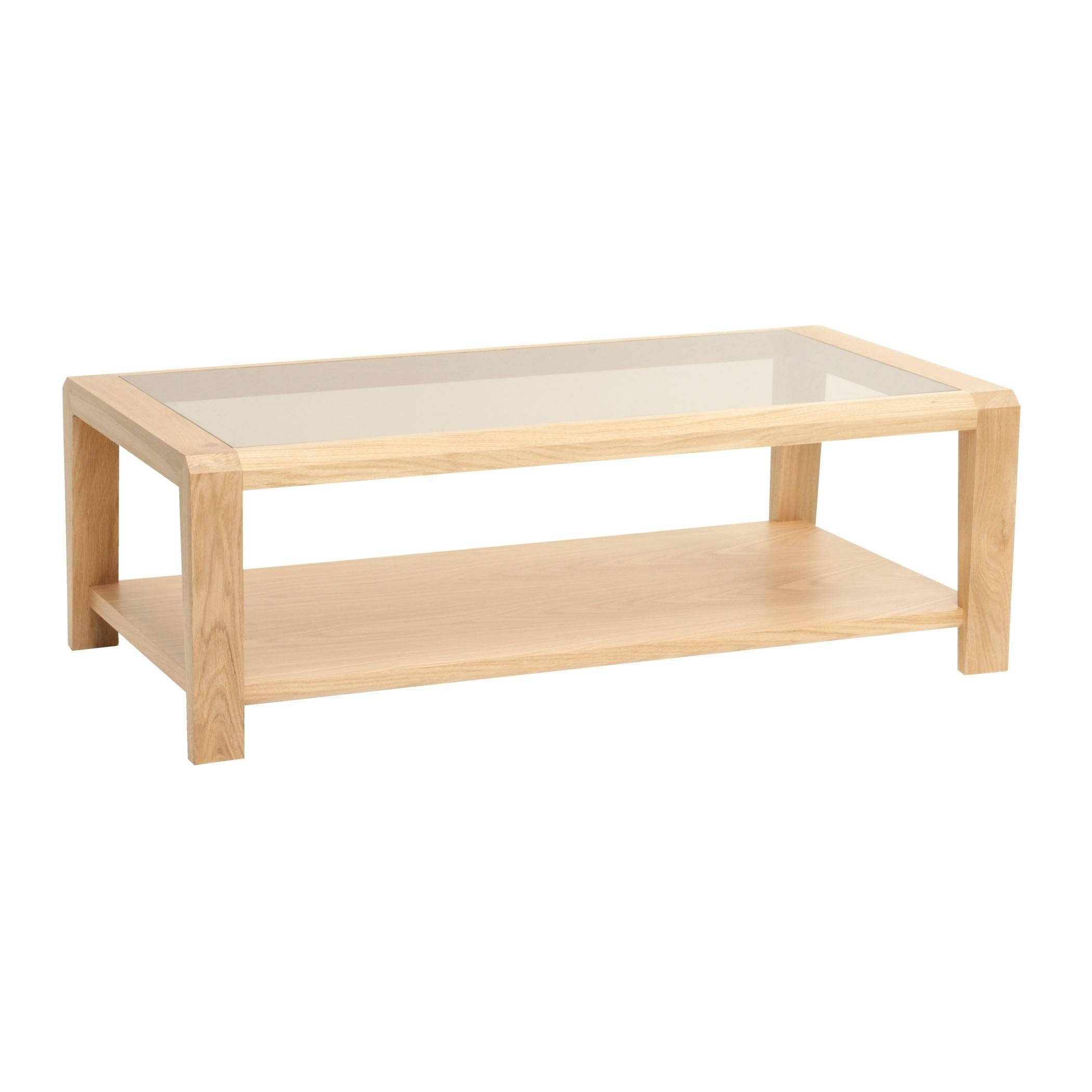 Oak Coffee Table With Glass Top And Shelf | Gola Furniture Uk throughout Oak Coffee Table With Glass Top (Image 14 of 15)