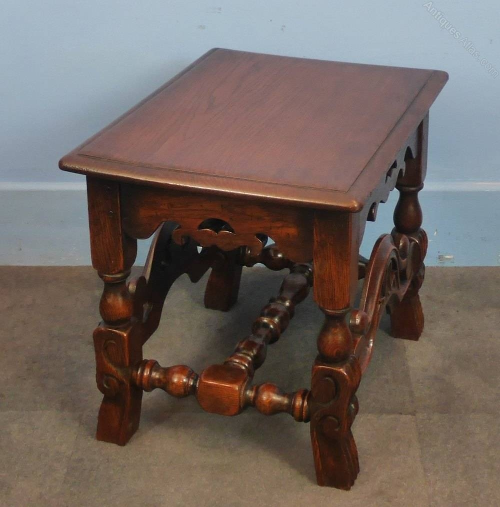 Oak Jacobean Style Coffee Table – Antiques Atlas Pertaining To Jacobean Coffee Tables (Image 12 of 15)