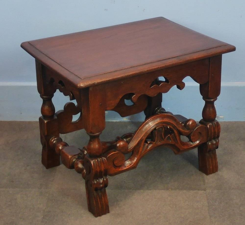 Oak Jacobean Style Coffee Table – Antiques Atlas Within Jacobean Coffee Tables (Image 13 of 15)