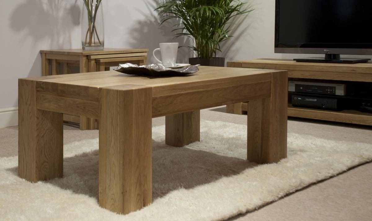 Featured Photo of Large Square Oak Coffee Tables