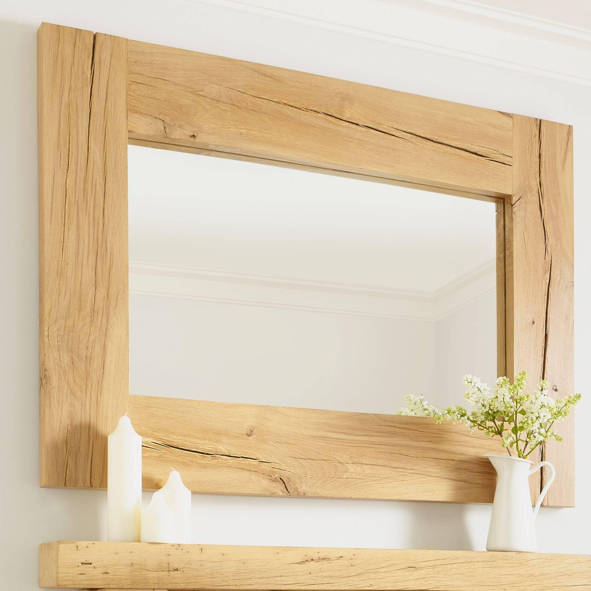Oak Mirrors regarding Oak Mirrors (Image 12 of 15)