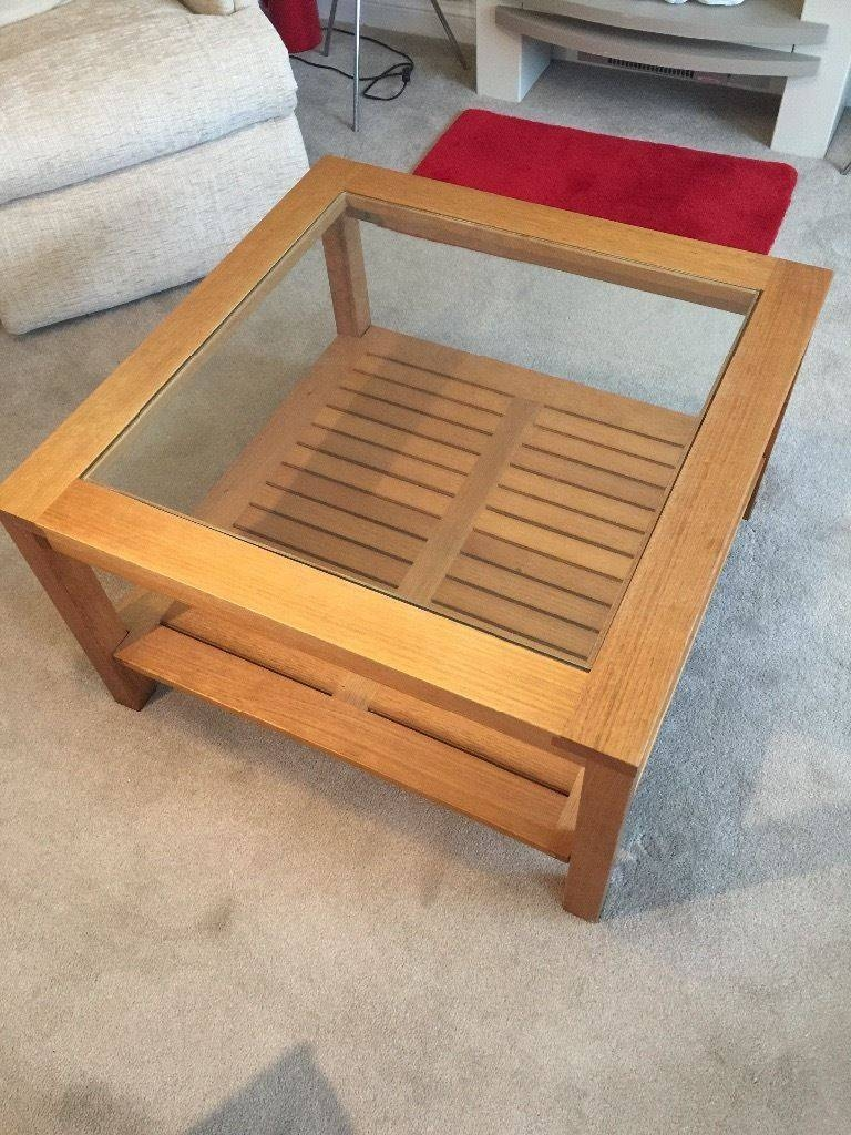 Oak Square Coffee Table ( M&s) | In Leeds, West Yorkshire | Gumtree within Mands Coffee Tables (Image 14 of 15)
