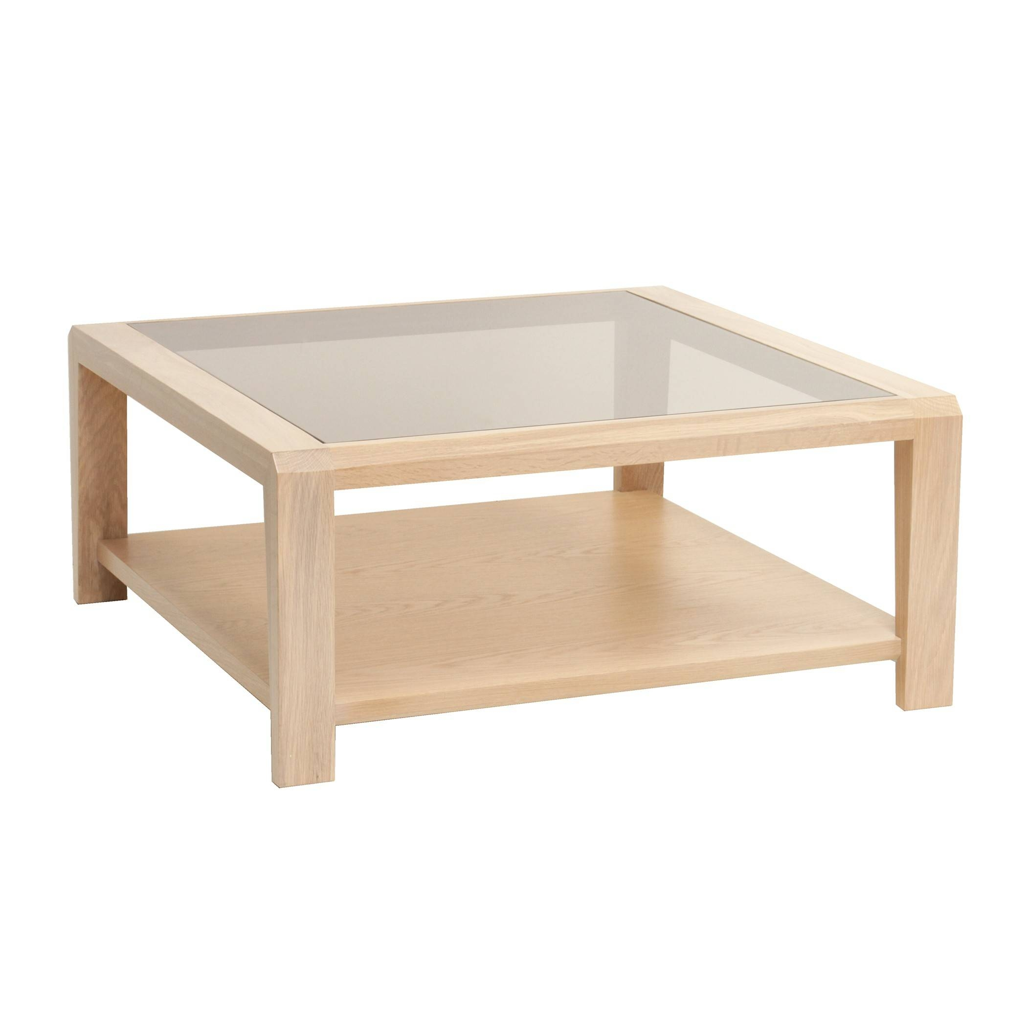 Oak Square Coffee Table With Glass Top | Gola Furniture Uk pertaining to Square Coffee Table Oak (Image 12 of 15)
