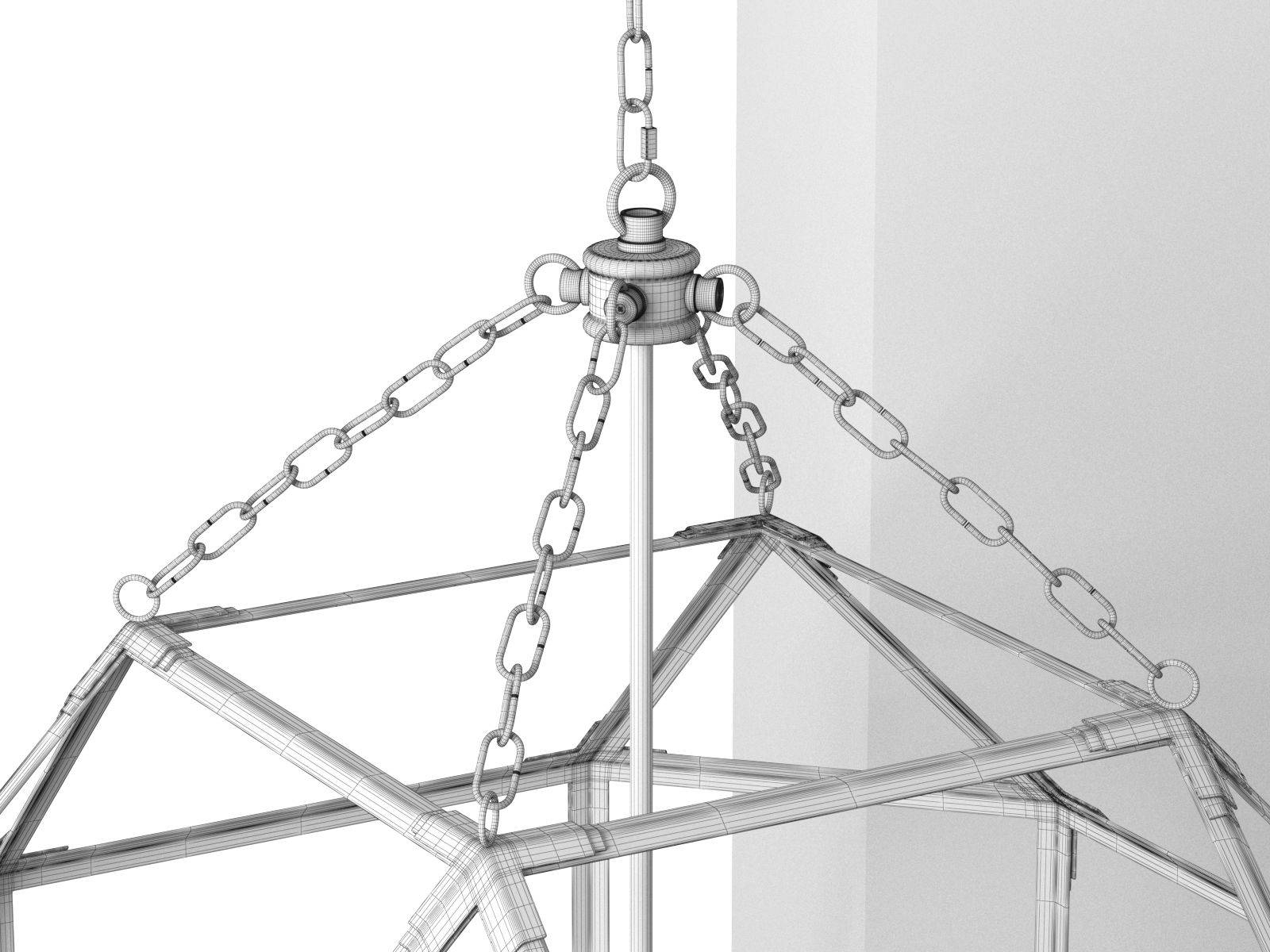 Octagonal Antiqued Mirror Glass Pendant inside Octagon Pendant Lights (Image 9 of 15)