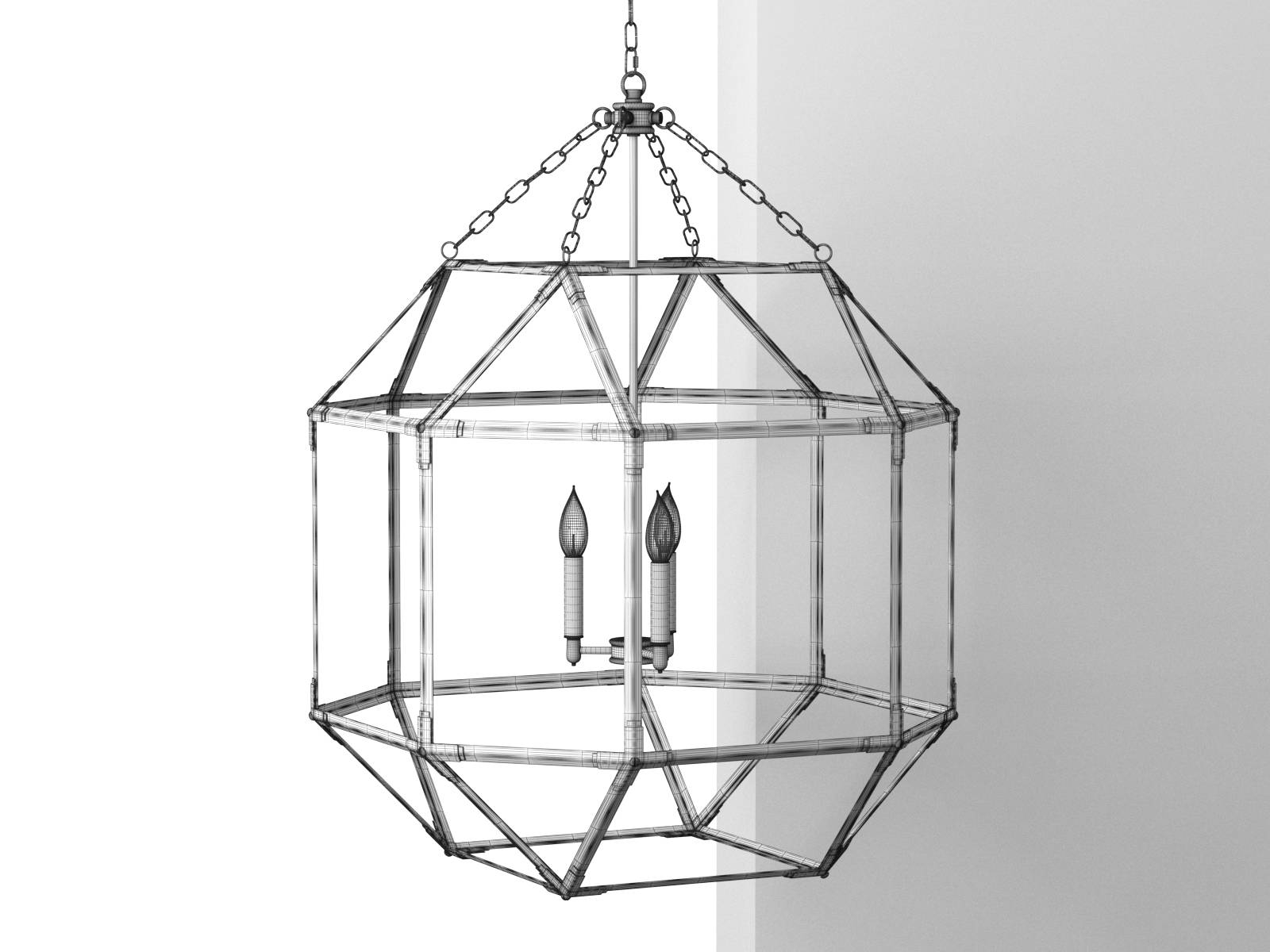 Octagonal Antiqued Mirror Glass Pendant within Octagon Pendant Lights (Image 11 of 15)