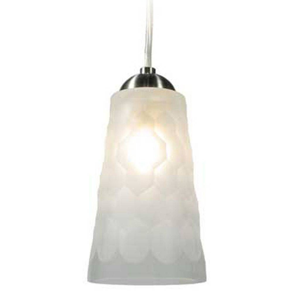 Oggetti Lighting Oasis Satin Nickel Mini-Pendant Light With in Oggetti Pendant Lights (Image 7 of 15)
