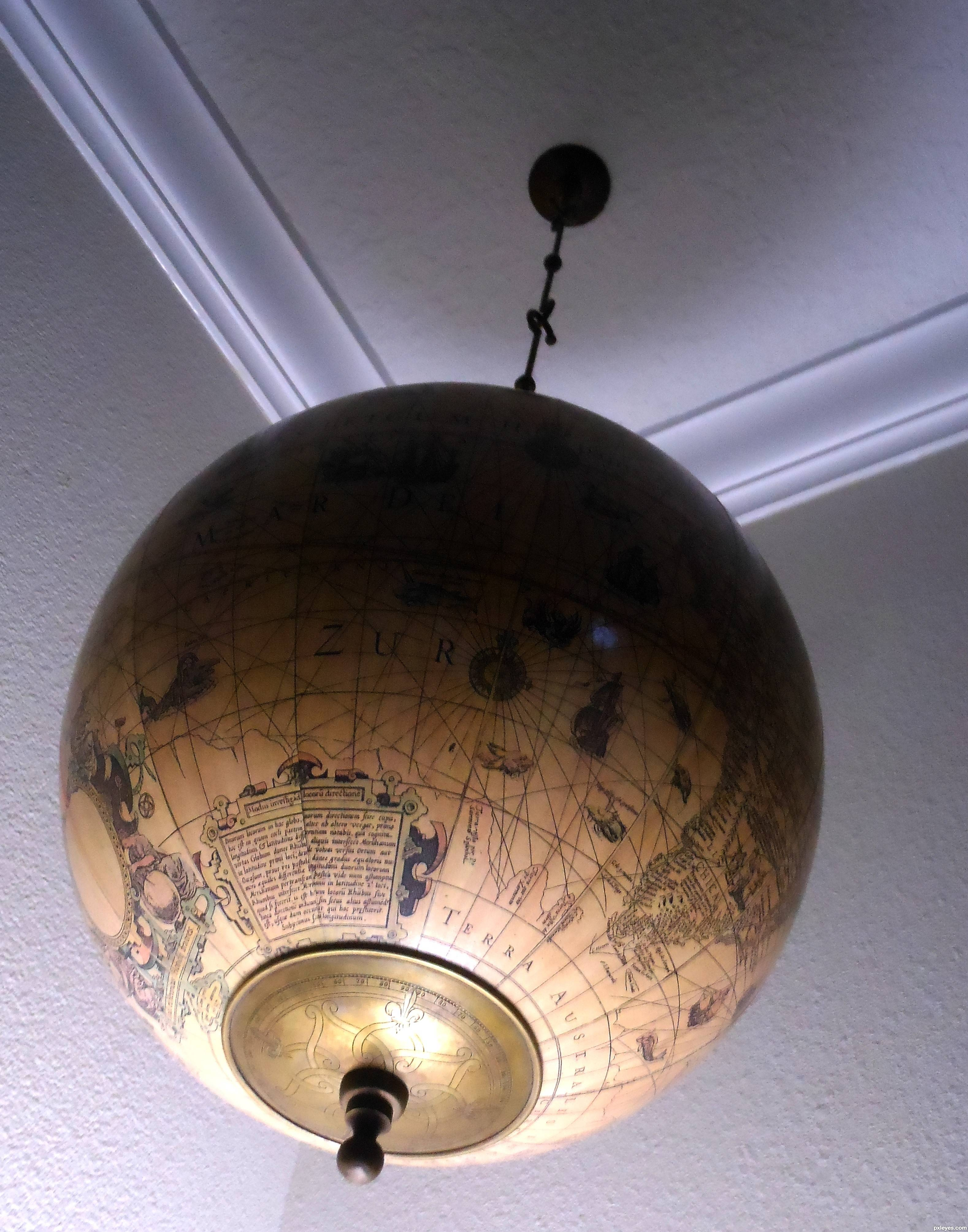 Old World Globe Picture,remsphoto For: Hanging Fixtures inside World Globe Lights Fixtures (Image 11 of 15)