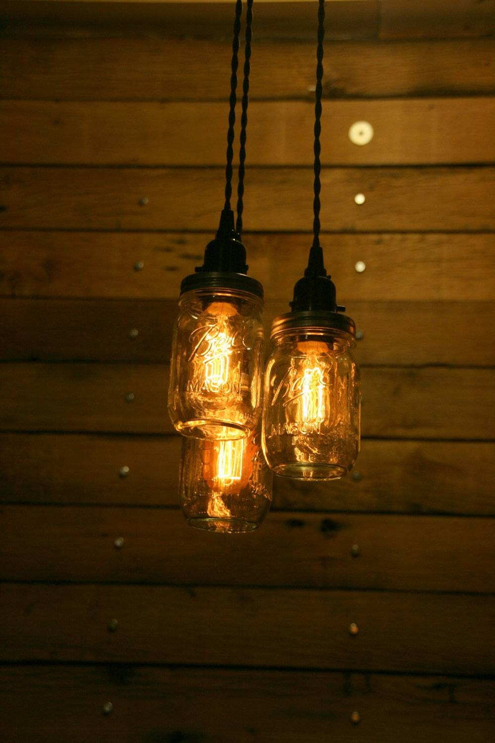On Sale 3 Pint Jar Pendant Light Mason Jar Chandelier Light Intended For Mason Jar Pendant Lights For Sale (View 5 of 15)