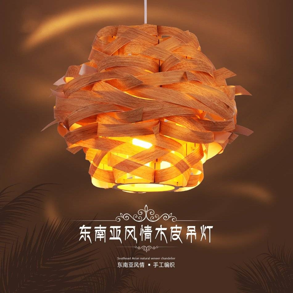 Online Get Cheap Wood Veneer Pendant Lamp -Aliexpress intended for Wood Veneer Pendant Lights (Image 9 of 15)