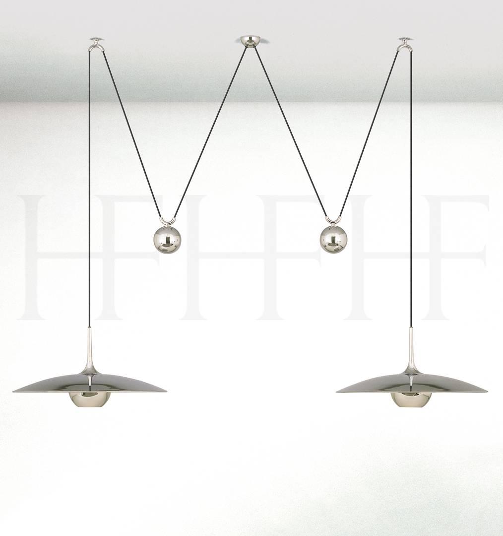 Onos 55 D Adjustable Pendant Lamp, Double Pullhector Finch Regarding Double Pendant Lights (View 2 of 15)