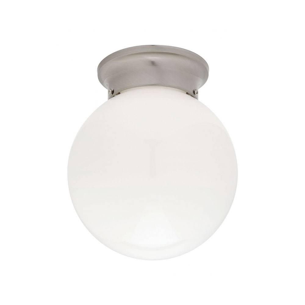 "Opal 8"" Ball Diy Batten Fix Brushed Chrome | Online Lighting within Batten Fix Lights Shades (Image 13 of 15)"