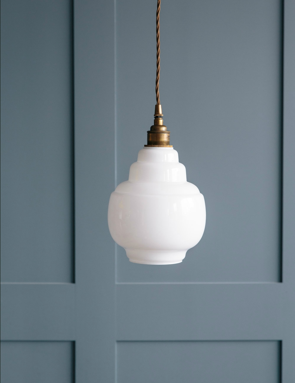 Opal Glass Pendant Light At Rose & Grey regarding Small Glass Pendant Lights (Image 7 of 15)