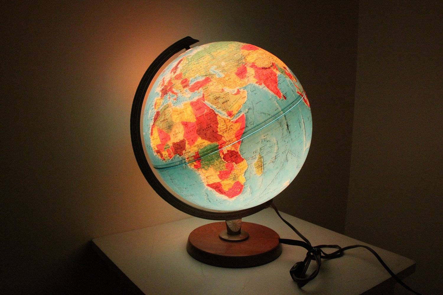 Open The Light Of The World With World Globe Lamps | Warisan Lighting for Earth Globe Lights Fixtures (Image 12 of 15)