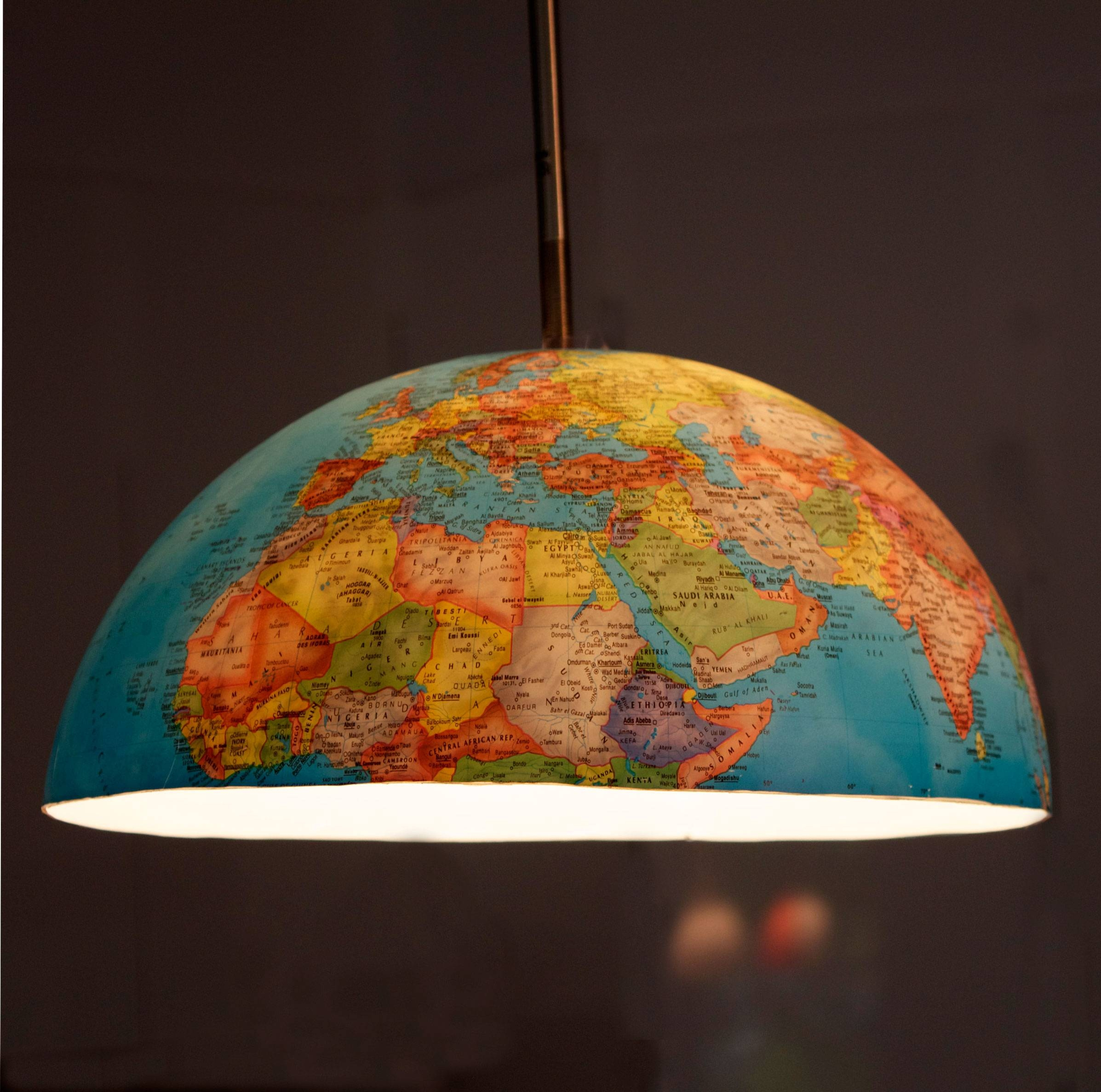 Open The Light Of The World With World Globe Lamps | Warisan Lighting for Earth Globe Lights Fixtures (Image 11 of 15)