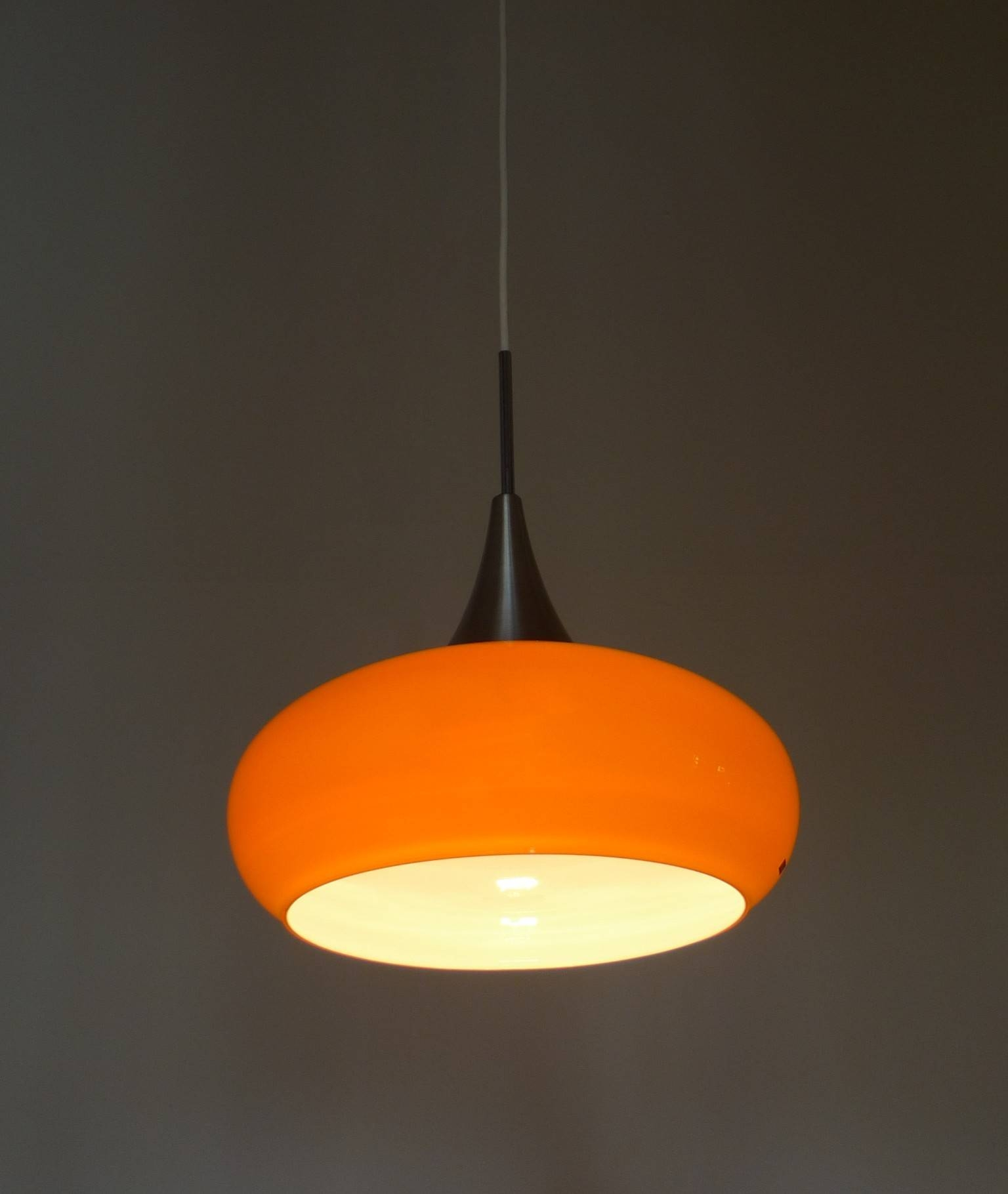 Orange Glass Pendant Light From Doria, Germany – 1960S – Design Market Throughout 1960S Pendant Lights (View 2 of 15)